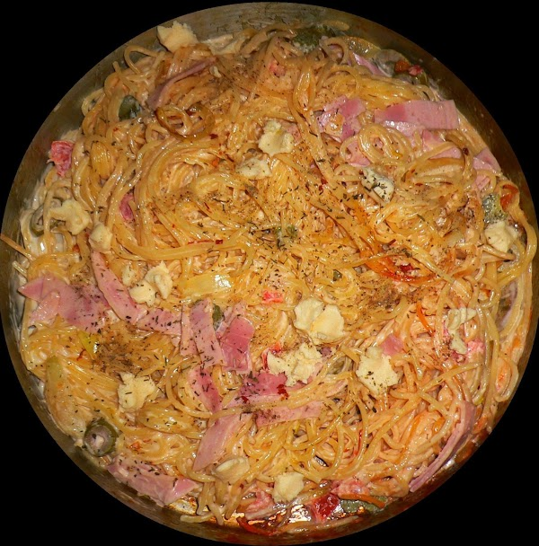Spaghetti With  White Sauce Recipe