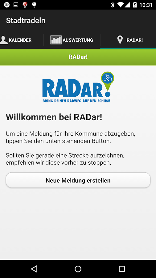 Stadtradeln- screenshot