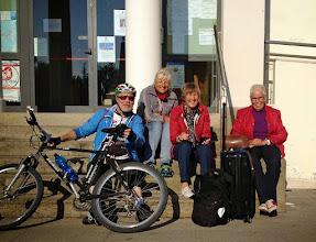 Photo: Der Abschied naht. Um 9:45 h fährt der Flughafenbus vom Rathaus in Montegrotto nach Venedig.