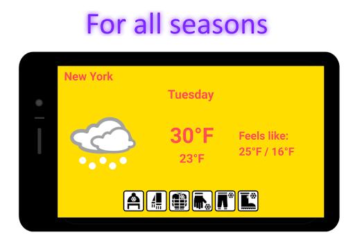 Weatherproof - Weather & Clothes 4.6.6 screenshots 3