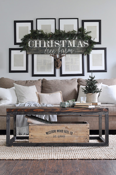 Photo: +Ashley Broviak is showing you how to get the neutral rustic look in just a few simple steps over on ABN today. I just love her holiday gallery wall don't you?!!  http://bit.ly/2gwr4Du
