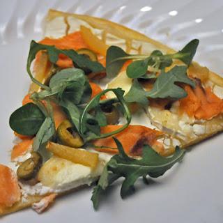 White Pizza with Smoked Salmon.