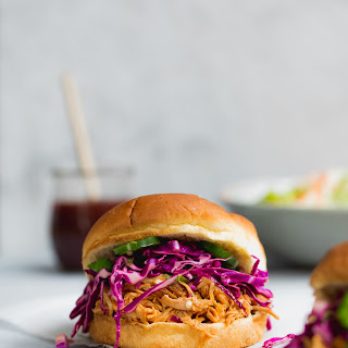 Slow Cooker Asian Pulled Chicken Sandwiches.