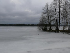 Photo: the lakes were still frozen