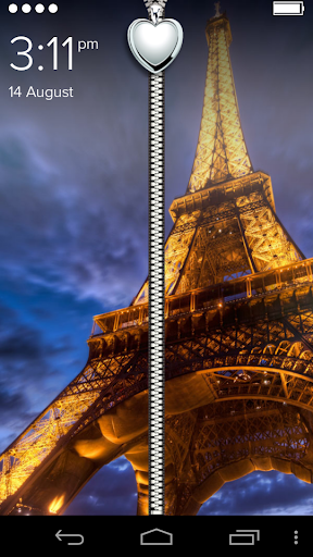 Paris Zipper Lockscreen