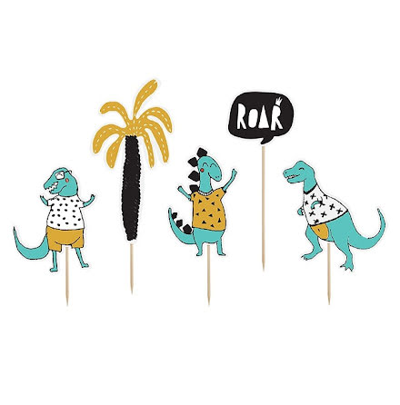 Cupcaketoppers - Dino Party Roar