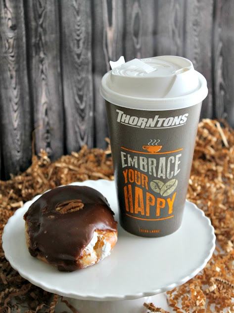Bourbon Ball Donuts and Vanilla Bourbon Latte, both great options from Thorntons that are perfect for your Kentucky Derby Party
