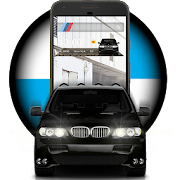 Black X5 Bumer Fast SUV Car Launcher Theme