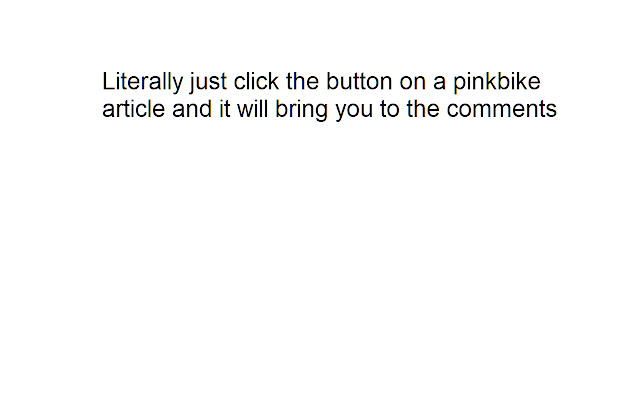 Pinkbike comments button