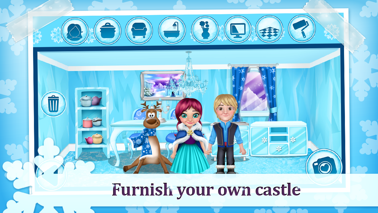 Ice Princess Doll House Games- screenshot