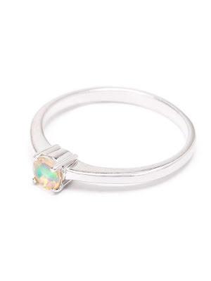 Etiopisk opal, tunn silverring
