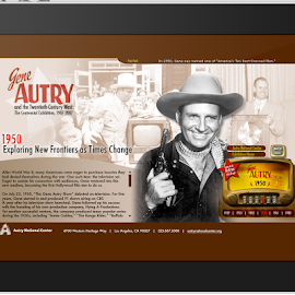 Gene Autry Exhibit Timeline site by Tobin Howard - Web & Apps Pages