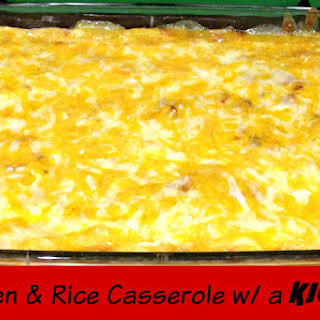 Chicken and Rice Casserole (With A Kick).