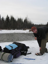 Photo: Brian getting ready to cross the Savage River.