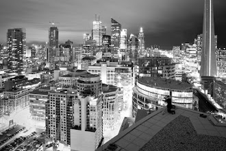 Photo: Clearly, +Jennifer Tse of Pencilprism [www.pencilprism.com] will do anything for the shot. She also stays still for long periods of time, even without being instructed.  Note: this may or may not have been Gaddafi's Toronto residence.  Tags: #toronto, #skyline, #blackandwhite, #rooftopping, #urbex, #urbanexploration