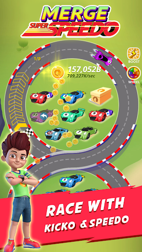 Merge Super Speedo - Kicko Car Tycoon apktram screenshots 2