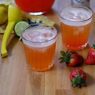 Strawberry Lime Jalapeño Shandies