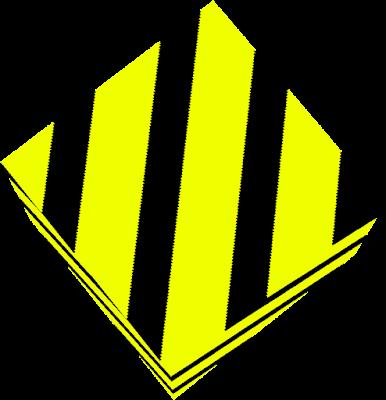 iridescent yellow block