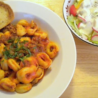 Cheese Tortellini With Sausage Ragu