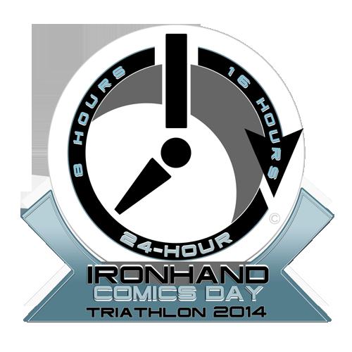 The IRONHAND Comics Day Triathlon Finishers Medallion