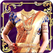 Woman Saree Photo Suit