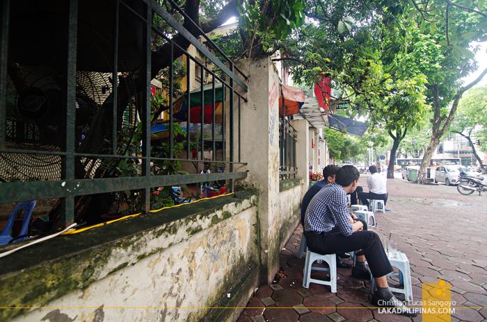 Sidewalk Coffee Shop Hanoi Vietnam