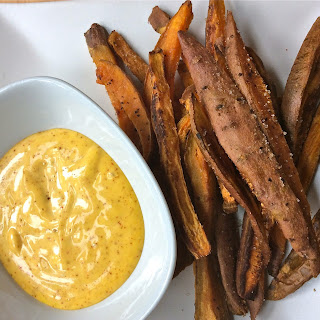 Spicy Mayonnaise & Sweet Potato Fries