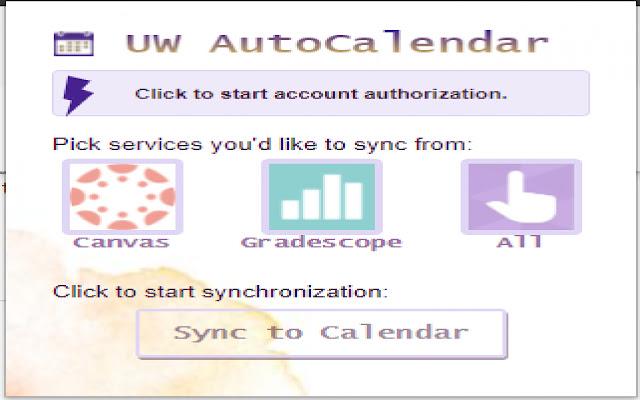UW AutoCalendar