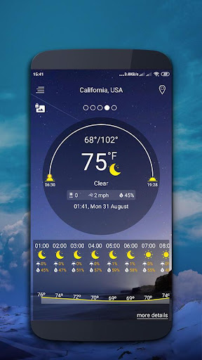 Weather map screenshot 2