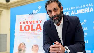 El actor Moreno Borja, en la ficción padre de Lola, presentó ayer la cinta en Fical.