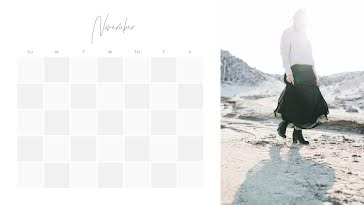 Fashion Monthly - Monthly Calendar template
