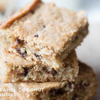 Caramel & Coconut Blondies