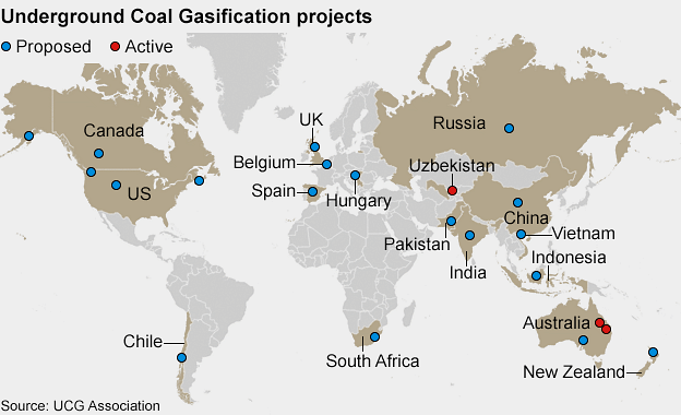 underground coal gasification projects