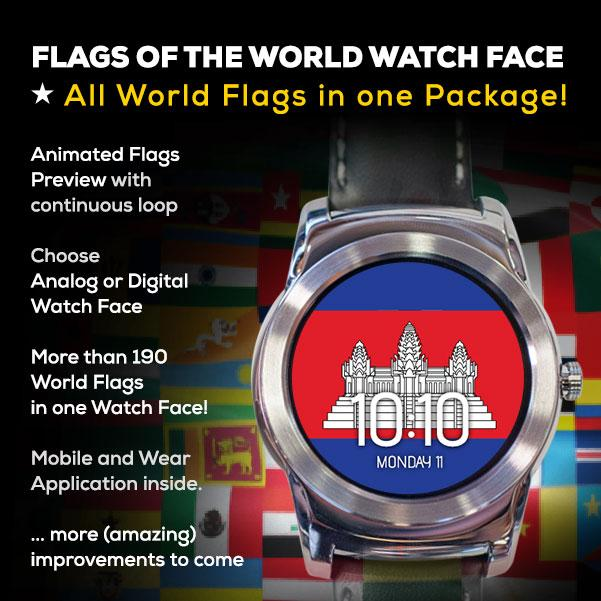 Flags of the World Watch Face- screenshot