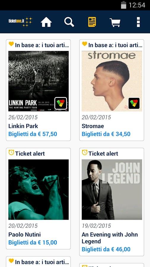 TicketOne.it- screenshot