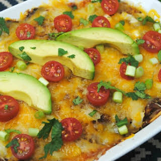 Easy Beef Enchilada Casserole.