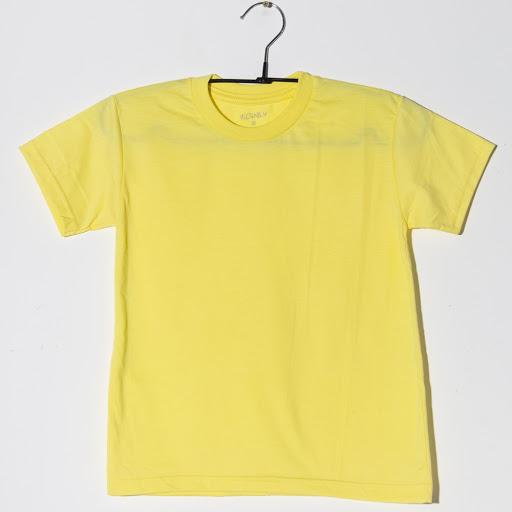 franela escolar m2f amarilla cuello redondo talla 4