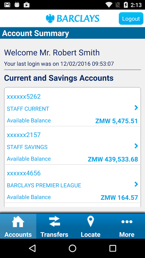 Barclays Zambia- screenshot
