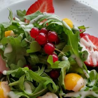 Arugula Salad with Seasonal Fruits #FoodieBeMine