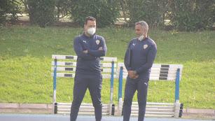 José Gomes con el doctor Maziel.