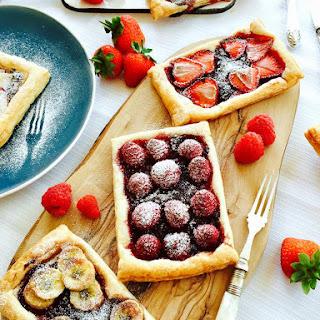 Homemade Tutti-fruity Jam And Fresh Fruit Tartlets.