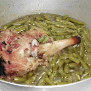 Ham Bone Green Beans.