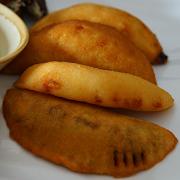 Venezuelan Beans & Sweet Plantain Empanada (vegan)