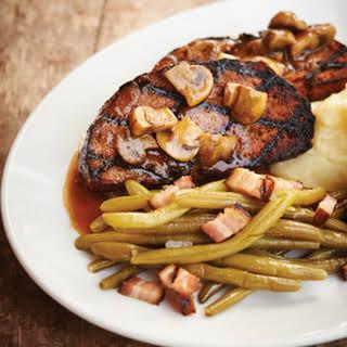 Meatloaf With Mushroom Sauce.