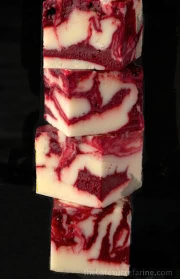 Winter White Red Velvet Fudge - Microwave Method