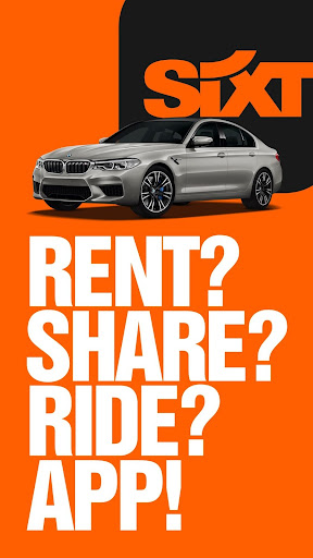 SIXT rent. share. ride. - screenshot