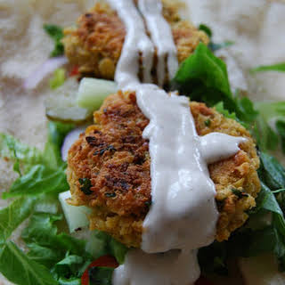Falafel with Tahini sauce.