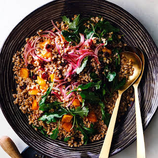Farro Salad with Cranberries & Persimmons.