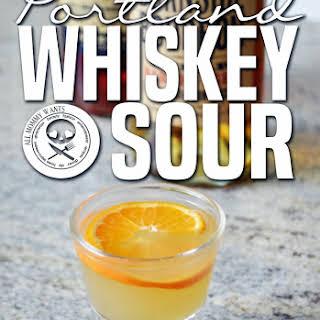 Portland Whiskey Sour With Burnside Bourbon.