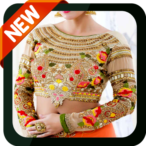 Stand Collar Neck Designs For Blouse : Blouse designs sleeve backless collar neck kurtis apps on google